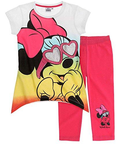 Disney minnie ragazze maglietta e leggins - fucsia - 134