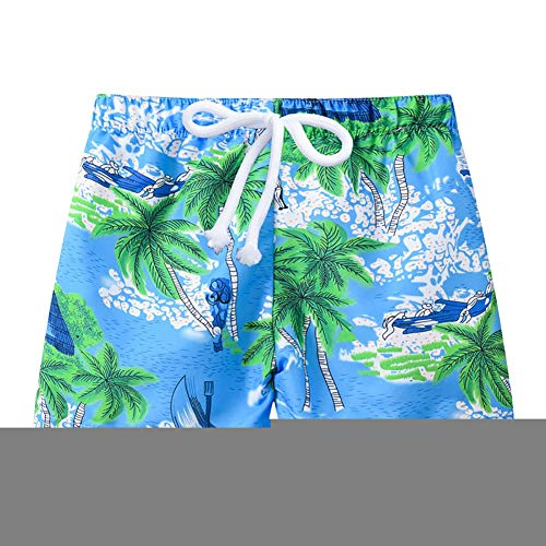Little Boys Beach Shorts Kids Summer Swim Trunk Swimsuit Beach Short Pant for Age 2-6 Years Old