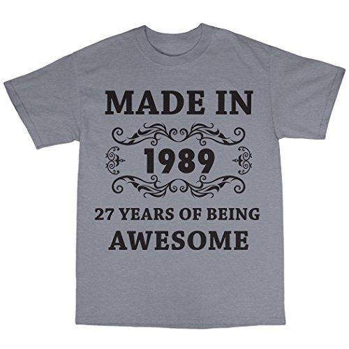 Made In 1988 T-Shirt 100% Baumwolle Grau