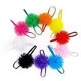 #8: 10pcs Girls Baby Children Satin Heand Hair Bow Band Accessories