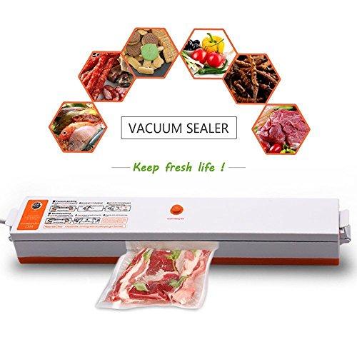 Rechen Maschine zur Vakuum verpackung Versiegelungsgerät Heat Maschinen-Set mit 15Stück Staubsaugerbeutel (Vakuum-verpackungs-maschine)