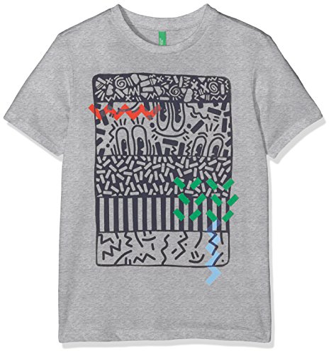 united-colors-of-benetton-t-shirt-garcon-gris-grey-7-8-ans-taille-fabricant-medium