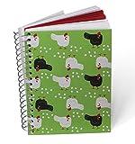 """Kit 2 notes a spirale A6 Galline in carta riciclata Collezione""""Chicken"""""""