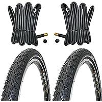 2 x Kenda Reifen Fahrradreifen 28 Zoll 37-622 35C mit Reflexstreifen inklusive 2 x Schlauch mit Autoventil