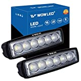 WOWLED 2 Pcs 18W CREE LED Flood Lamp Work Driving Light for SUV ATV Boat Truck