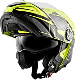 givi- Casco Modular x.23 Aleatorio Viper Eclipse gráfica x23 °F Small Eclipse Gloss Yellow/Black