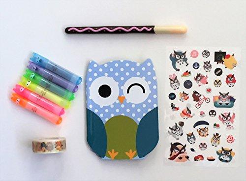 kawaii Stationery Strumpffüller Geschenk Set–Eule Notebook–Eule Washi Tape–Eule...