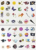 Oblique Unique® Tattoo Set 96 Kindertattoos Tattoo verschiedene Motive Kinder Spielen