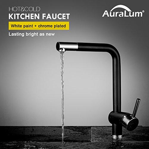 Auralum Armatur für die Küche schwarz
