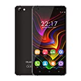 OUKITEL C5 - Android 7.0 3G 5 Zoll Smartphone Metallrahmen MTK6580 Quad Core 1.3GHz 2GB RAM 16GB ROM Dual Kamera Dual SIM Anti-Smash - Schwarz