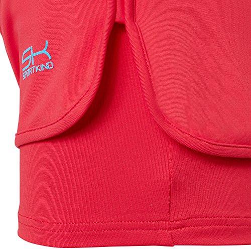 Sportkind Mädchen & Damen Tennis / Volleyball / Sport 2-in-1 Shorts mit Innenhose Pfirsich