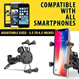 Autofy A-14 X-Grip Premium Bike Mobile Charger & Phone Holder Version 2 For All Bikes (5V-2A Black)