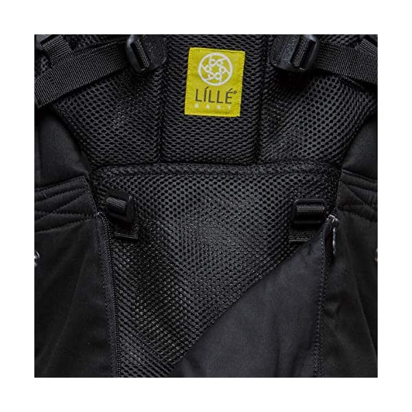 LÍLLÉbaby  Complete All Seasons 6-in-1 Baby Carrier, Black Lillebaby With a temperature regulating breathable panel that unzips to encourage airflow in warm conditions and 6 carrying positions - Foetal, infant inward, outward, toddler inward, hip, back - The only carrier you'll ever need! Suitable from 3.2- 20kg (birth to approx. 4 years old), providing extended comfortable use for parent and child with no additional infant support required for new-borns - the ergonomic adjustable seat is acknowledged as 'hip-healthy' by the International Hip Dysplasia Institute Unique spacious head support with elasticated straps - soothes infants with gentle lulling motion and provides excellent support as children grow 9