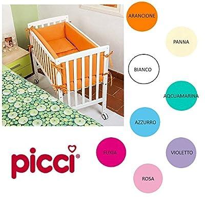 Cuna-cuna Lella Picci Blanca Con Textil Color Lila