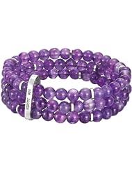 Esprit - ESBR91236A160 - Multi Chain - Bracelet Femme - Argent 925/1000 32 gr - Verre - Violet - 16 cm