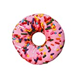 Deko Kissen ''Donut'' pink - bunt | Sofakissen | Zierkissen | Kuschelkissen | Geschenk für Freundin | Schmusekissen für Kinder | Donut Kissen | Preis am Stiel®
