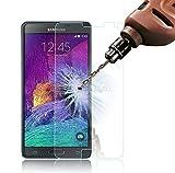 BestBuy-24 Panzer-Folie Handy Smartphone Samsung Galaxy Note-4 (N910F/N910) Härte 9H, nur 0,33mm dünn, Tempered Glass, Schutzglas Premium