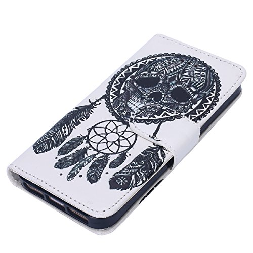 Custodia iPhone 5S/iPhone SE, EUWLY Flip Cover Leather Wallet Case Custodia per iPhone 5S/iPhone SE in PU Pelle, Bling Bling Custodia Cover con Ultra Sottile Interno Silicone TPU Case Protettiva Porta Campanula Dream Catcher
