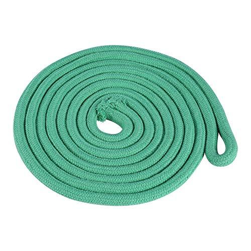 Tbest Cuerda de Gimnasia, Gimnasia rítmica Cuerda de Saltar Cuerda de Competencia Cuerda sólida Gimnasia Duradera Cuerda Ejercicio físico Cuerda de Entrenamiento Deportivo(Verde)