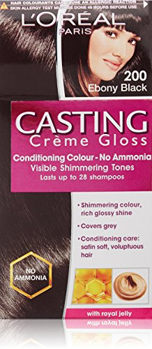 L'Oreal Paris Casting Creme Gloss, Ebony Black 200,87.5g+72ml