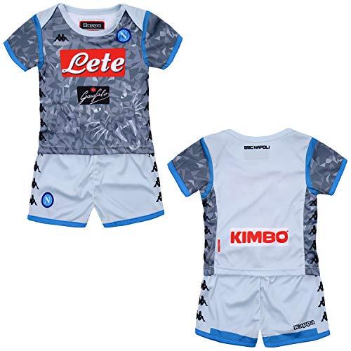 SSC Napoli Tercera equipación de juego junior gris fantasía, gris, 6 mesi