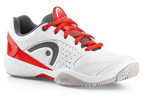 Head Kinder Tennis Schuh Tennischuh SPRINT LDT. Junior weiß / rot White/Flame