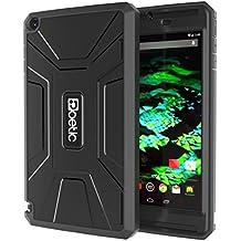 Funda NVIDIA SHIELD Tablet K1 / NVIDIA SHIELD Tablet - Poetic [Serie Revolución] [Pesada] [Doble Capa] Funda de Protección Hibrida Completa con Protector de Pantalla Incorporado para de NVIDIA SHIELD Tablet K-1 (2015) / NVIDIA SHIELD Tablet Negro (3 Años Garantía del Fabricante Poetic)