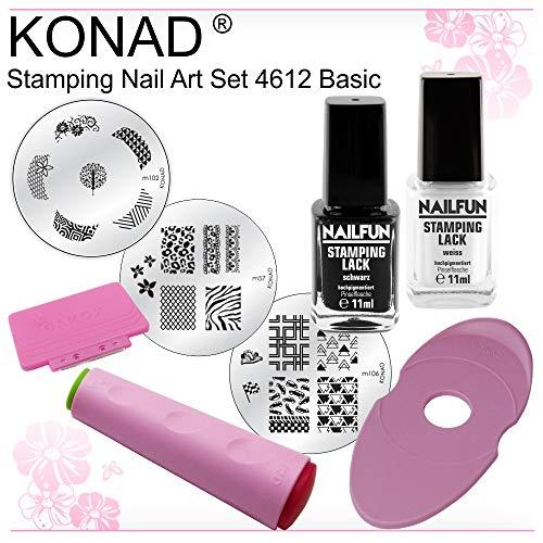 NAILFUN/KONAD Kit de Estampado Básico