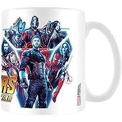 Los Vengadores: infinity Guerra Héroes Unidos taza de café, cerámica, multicolor, 7,9x 11x 9,3cm