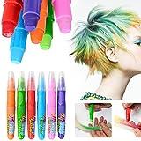 Elera niños temporales de color de pelo tiza Chicas Muchachos color de pelo colorante para el partido, uso casero, 6 piezas por paquete