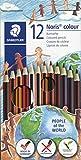 Lápiz color tonos de piel 12 lápices Noris Colour
