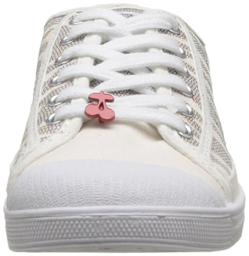 Le Temps des Cerises Basic 02 Fancy, Baskets mode femme Blanc (Zèbre White)