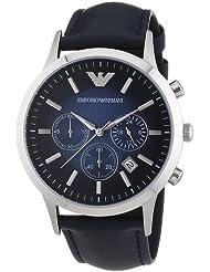Emporio Armani Herren-Armbanduhr Chronograph Quarz Leder AR2473