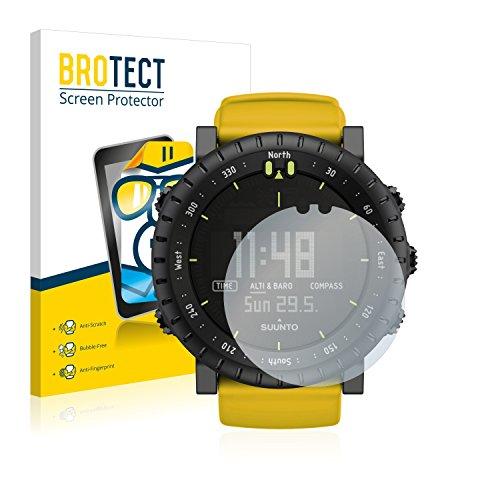 brotect Schutzfolie kompatibel mit Suunto Core Yellow Crush (2 Stück) klare Displayschutz-Folie