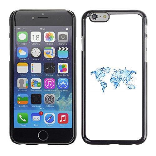 Smartphone Rígido Protección única Imagen Carcasa Funda Tapa Skin Case Para Apple Iphone 6 Continents Earth Water Planet Art Ocean / STRONG