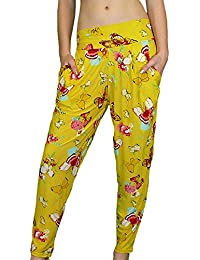 Mädchen Haremshose mit Schmetterlingmuster in top Farben Gr.: One Size 152 - 176 ( 12 - 16 )