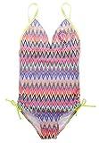 Attraco Mädchen Bikini Bunt Einteiler Tribal Badeanzug Mädchen Tankini Mit Verstellbare Spaghetti Träger 5-6 Jahre