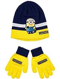 Bonnet et gants enfant garçon Les Minions Marine/jaune de 3 à 9ans