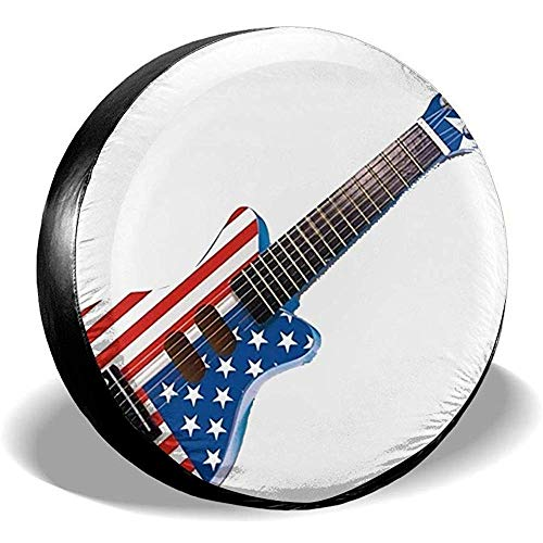 LAURE Tire Cover Copricerchi Ruota di scorta Protezione Solare Universale per Chitarra Americana per Chit