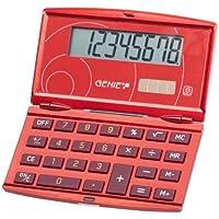 Genie 200 - Calcolatrice tascabile richiudibile con display 8 cifre, design elegante, rosso - Confronta prezzi