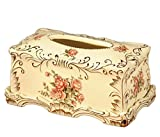 GRJH caja de pañuelos de cerámica continental caja de libro caja de almacenamiento de la vendimia...