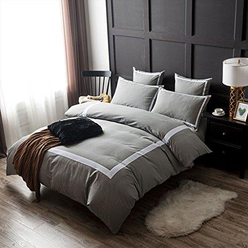 Herbst und Winter Momao Fünf-Sterne-Hotel Vierteiliges Set Heimtextilien Bettfutter Quilt Kissenbezug Quilt Polyester ( Color : E , Size : 220*240CM ) (Bett-kissen-decken-könig Size)
