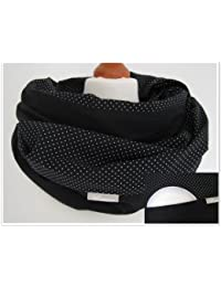"""L'écharpe-tube d'allaitement """"Dots black"""" avec petites poches pour coussinetsd'allaitement. S-M"""