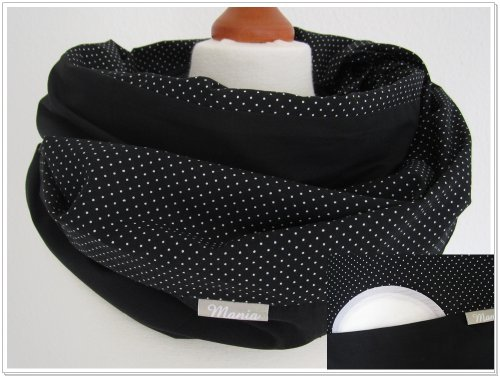 mania-breastfeeding-scarf-dots-black-with-small-pocket-for-nursing-pads-in-size-s-m