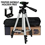 #5: HUMBLE Professional Tripod - 3110 Portable & Foldable Camera - Mobile Tripod With Mobile Clip Holder Bracket , Fully Flexible Mount Cum Tripod , Standwith Three-dimensional Head & Quick Release Plate Only 150 gm.
