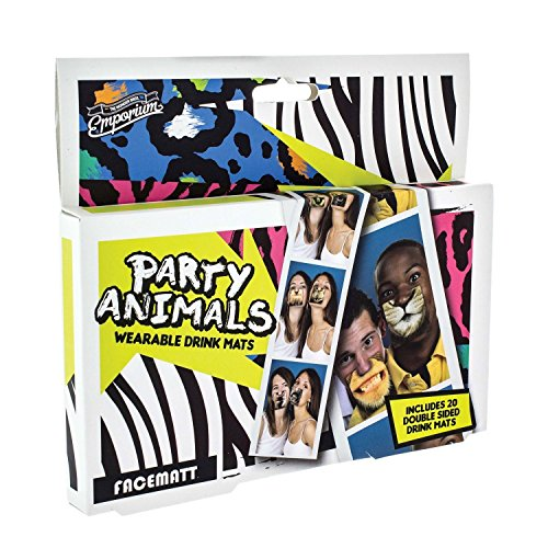Party Animal Face Coasters by Paladone