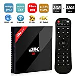 [2018 Ultime Versioni] SINUK H96 Pro plus Android 7,1 TV BOX 3GB +32GB Amlogic 912 64bit Octa-core Ultra HD Smart Set-top Box ,Supporta 2.4G / 5G Dual Wifi /1000M LAN BT 4.1/ 3D