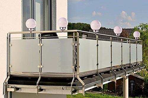 Solar-power-lampen (Solar LED Zaunleuchte 2in1 mit 4 Power LED´s Kugelleuchte Wegeleuchte Zaunlampe Geländerlampe NEU)