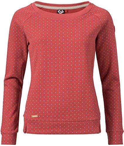 Ragwear Damen Sweatshirt Kind Dots Rot Gr. S