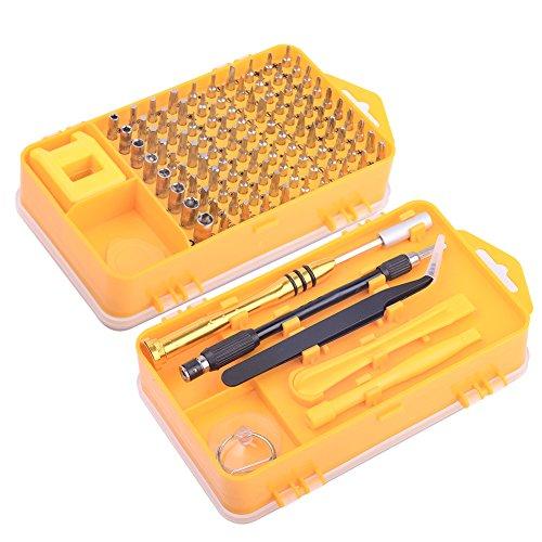cylewet Schraubendreher Werkzeug Set 108in 1Multifunktional Präzise Schraubendreher-Set für Computer Tablet Laptop Smartphone Reparatur Tool Kit clw1075 Aluminium Mobile-tool-box